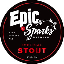 2018 SparksEpic ImperialStout TapBadge 73mm v2.00